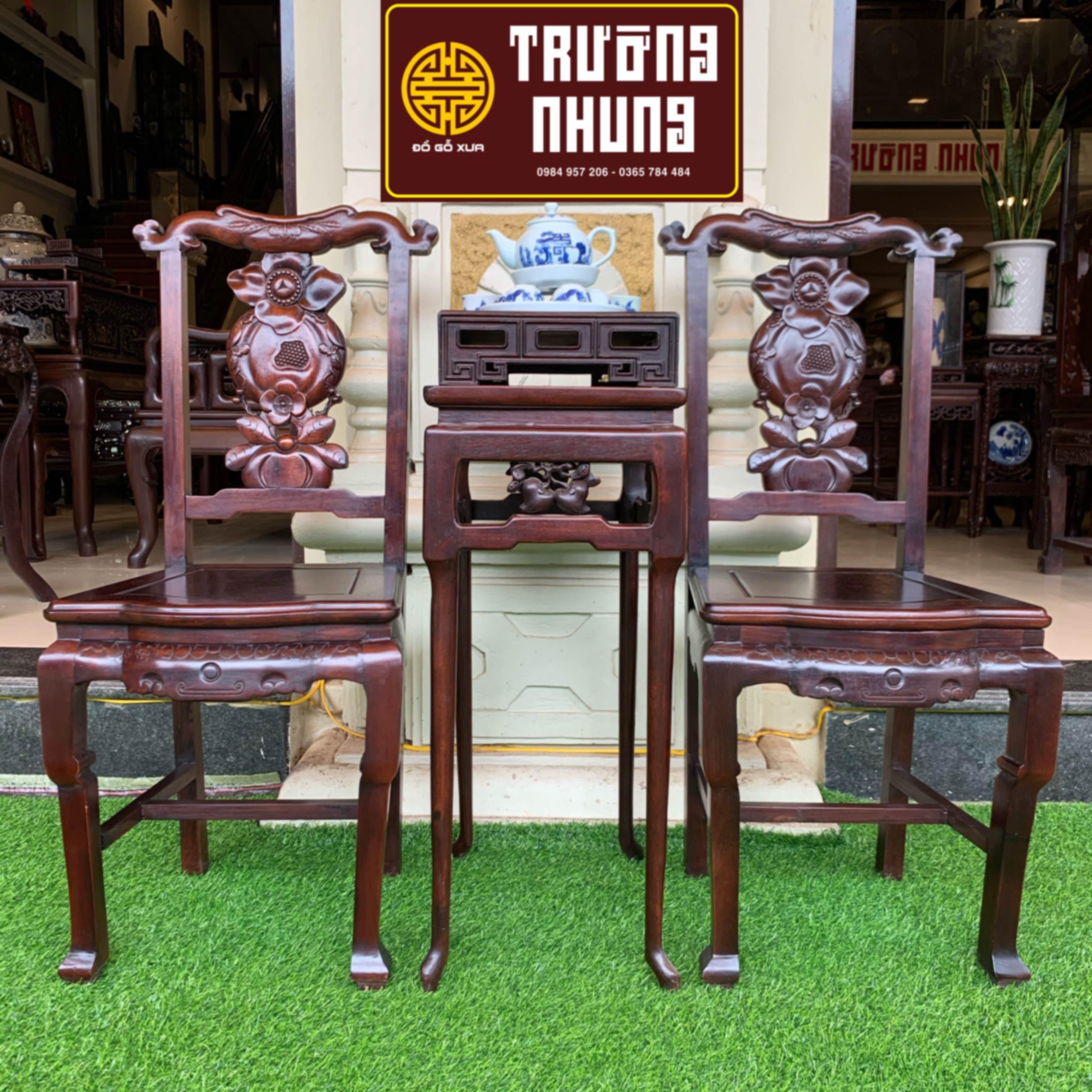 bộ 3 - món - ghế - ăn- gỗ - lim - ta - mặt - đá - ĐỒ - GỖ - XƯA - TRƯỜNG - NHUNG