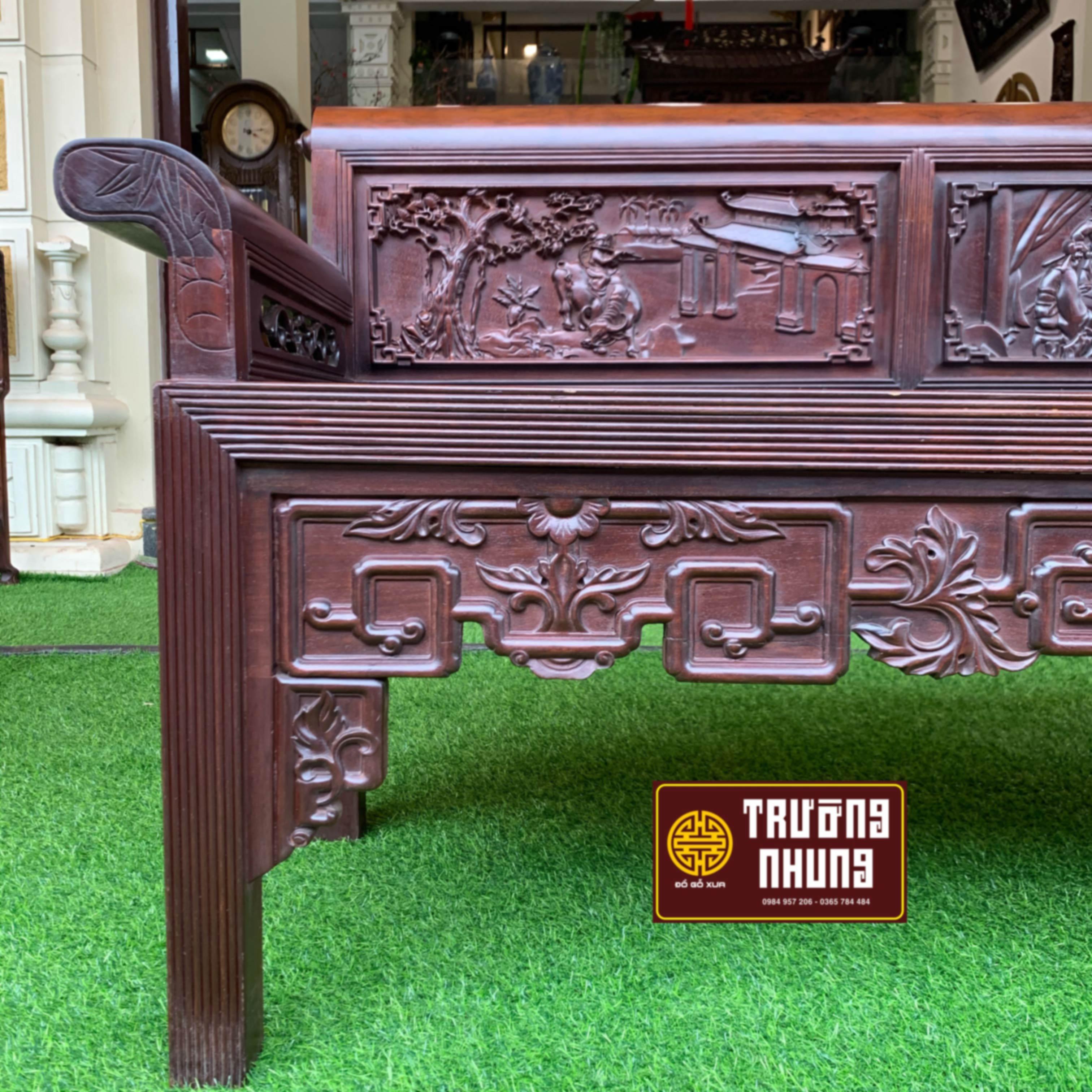 lô - cạnh -trường - kỷ - gỗ - gụ - quấn - lật - đẹp - nhất - ĐỒ - GỖ - XƯA - TRƯỜNG - NHUNG